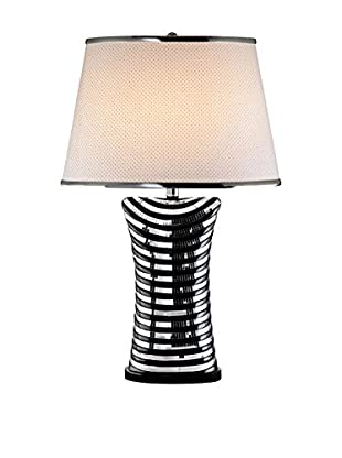 ORE International Equiferus 1-Light Table Lamp, Black/Silver