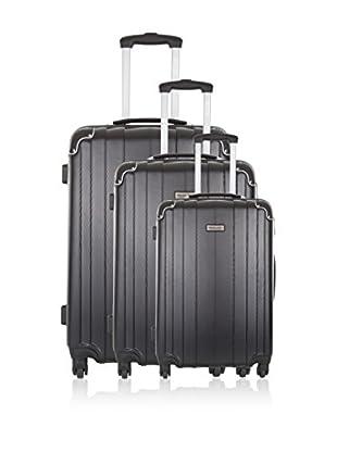 Travel ONE Set de 3 trolleys rígidos Rovigo Negro