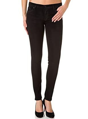 7 for all Mankind Jeggings The Skinny Windsong Coated (Dunkelblau/Schwarz)