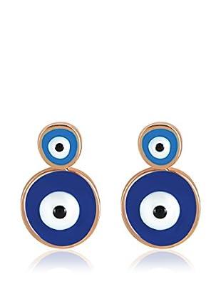Divas Diamond Pendientes Doble Good Luck Eye Oro Amarillo