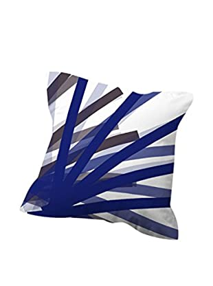 Devota & Lomba Funda De Cojín Brochas Blanco/Azul/Gris