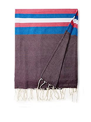 Nomadic Thread Cotton Throw Maxi Fouta, Heather Auvergne