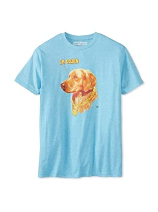 Ames Bros Men's I'm Golden Crew Neck T-Shirt (Light Blue Heather)