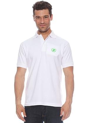 Polo Club Polo manga corta Logo Small (Blanco / Verde)
