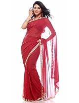 Bharat Plaza Teal Pearls & Kundan Work Sari
