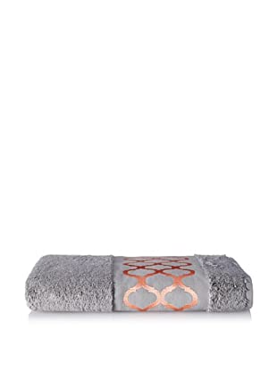 Anali Tangier Bath Towel, Coral/Grey