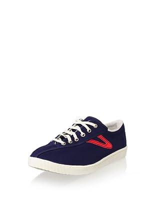 Tretorn Men's Nylite Canvas Fashion Sneaker (Navy Blue/Red)
