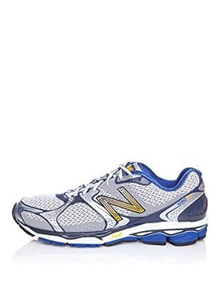 New Balance Zapatillas Running 1080 (Plata / Azul)