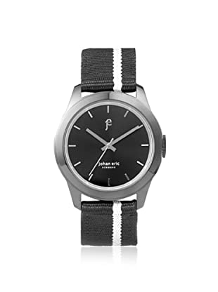 Johan Eric Men's JE1400-13-007 Naestved Black Striped Canvas Watch