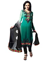 atisundar superb Green Traditional Embroidered Unstitched Salwar Suit- 4102_39_402