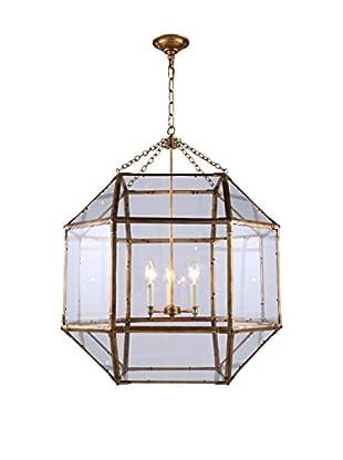 Urban Lights Gordon Large 3-Light Pendant Lamp, Golden Iron