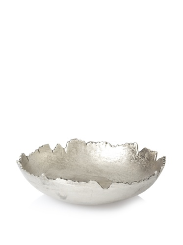 Shiraleah Large Bark Recycled Aluminum Bowl (Silver)