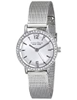 Caravelle by Bulova Crystal Analog Silver Dial Women's Watch - 43L170
