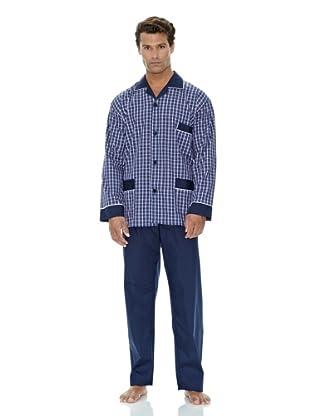 Plajol Pijama Cuadro Combinado (Marino)