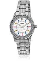 Casio Enticer Analog Silver Dial Women's Watch - LTP-1358D-7AVDF (A806)