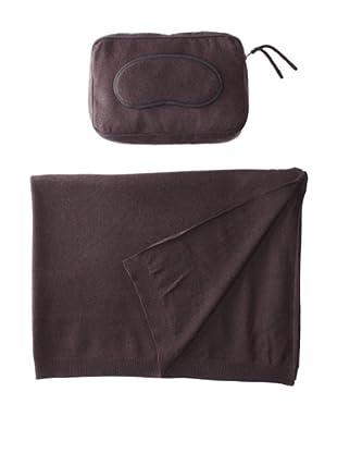 Sofia Cashmere Romagna Jersey Knit Travel Set (Brown)