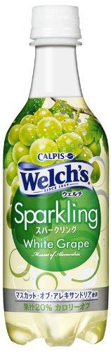 Welch's スパークリングホワイトグレープ 450ml×24本