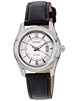 Citizen Eco-Drive Analog White Dial Women's Watch FE1011-03B