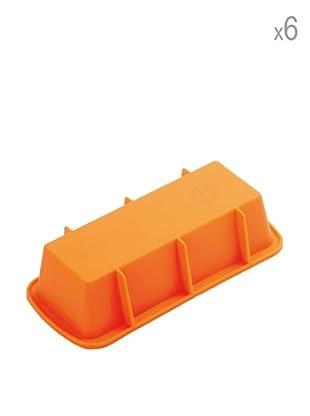 Pavoni Set 6 Mini Moldes Para Plumcakes