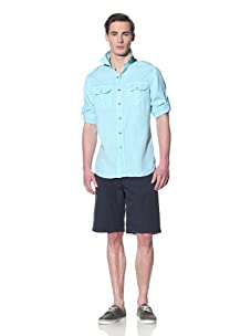 Tailor Vintage Men's Cargo Pocket Shirt (Aqua)