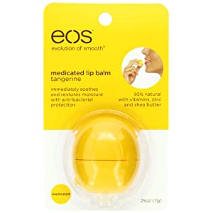 EOS Tangerine Medicated Lip Balm Sphere, .25-Ounce