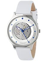 Johan Eric Women's JE1600-04-001 Orstead Round Stainless Steel Silver Sunray Dial Swarovski Crystal Watch