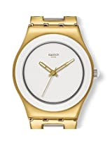 Swatch Yellow Pearl YLG122G Analogue Watch - For Women