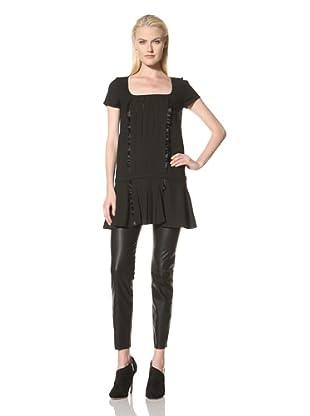 Amelia Toro Women's Pleat Front Dress (Black)