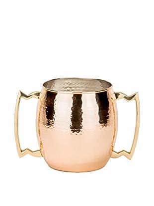 Old Dutch International Hammered 128-Oz. Solid Copper 2-Handled Jumbo Mug, Copper