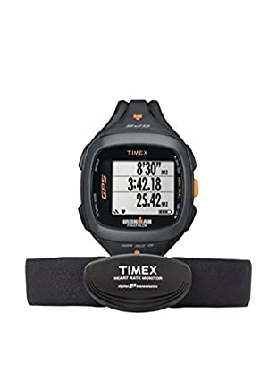 TIMEX Reloj de cuarzo Unisex Unisex Ironman Run Trainer 2.0 GPS HRM Negro 46 mm