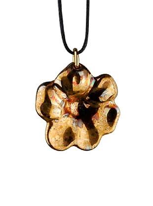 Rosenthal Anhänger Blume Feuer + Eis gold
