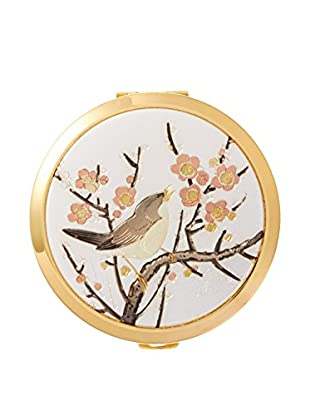 Dynasty Gallery Chokin Art Plum Blossom Compact with Mirror, Gold