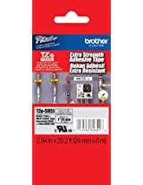 Brother Laminated Extra-Strength Black on Matte Silver 1-inch Tape (TZeS951)