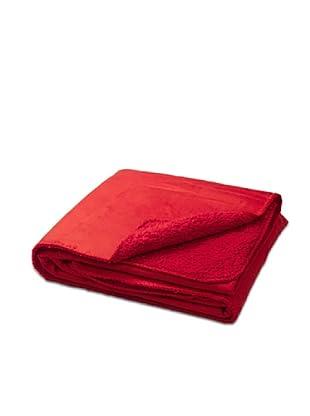 Nido Plaid Ante Y Coral (Rojo)