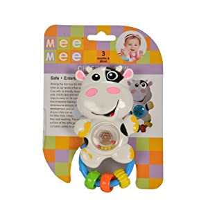 Mee Mee Cheerful Cow Rattle, Multi Color