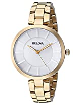 Bulova Classic Analog White Dial Women's Watch - 97L142