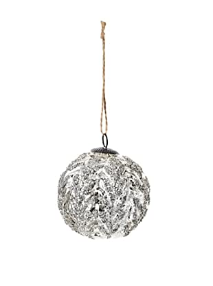 RAZ Antiqued Acanthus Ornament, Silver