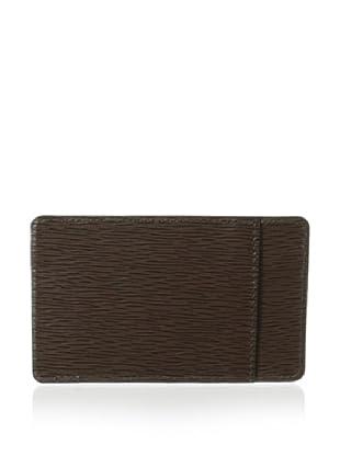 Leone Braconi Men's Minipaglia Credit Card Holder (Brown)