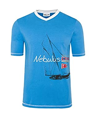 Nebulus Camiseta Manga Corta Ahoi Azul L