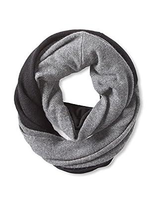 Cullen Women's Colorblock Cashmere Infinity Scarf, Fog/Black