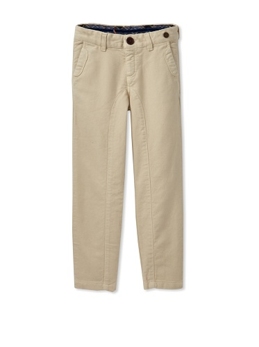 hitch-hiker Boy's Bias-Cut Corduroy Pants (Ecru)