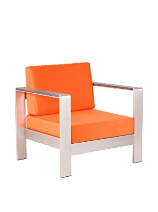 Zuo Modern Outdoor Cosmopolitan Armchair with Cushions, Orange