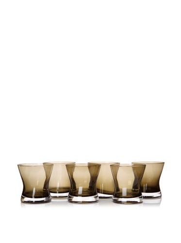 Artland Set of 6 Soho DOF Glasses, Smoke