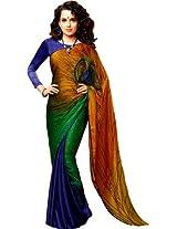 Rajshri Georgette Saree(SKU511_Multi colour)