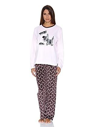Bluedreams Pijama Tundosado (Blanco)
