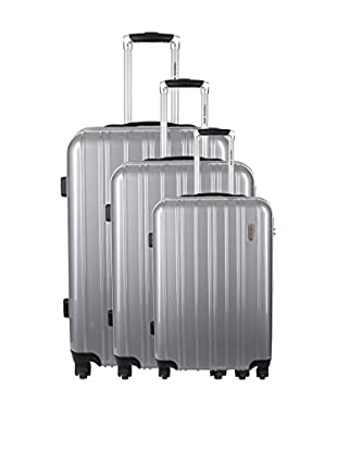 TRAVEL ONE Set de 3 trolleys rígidos Melton