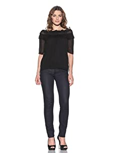 RED Valentino Women's Off-The-Shoulders Top (Black)