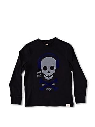 Carrera Jeans Camiseta Bambino M/L Girocollo (Negro)