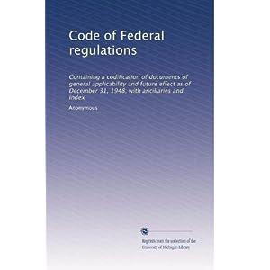 【クリックでお店のこの商品のページへ】Code of Federal regulations (Vol.4225) [ペーパーバック]