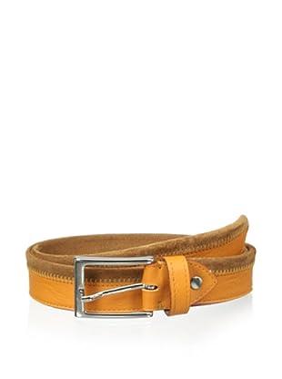Bolliver Men's Color Block Belt (Orange/Cognac)